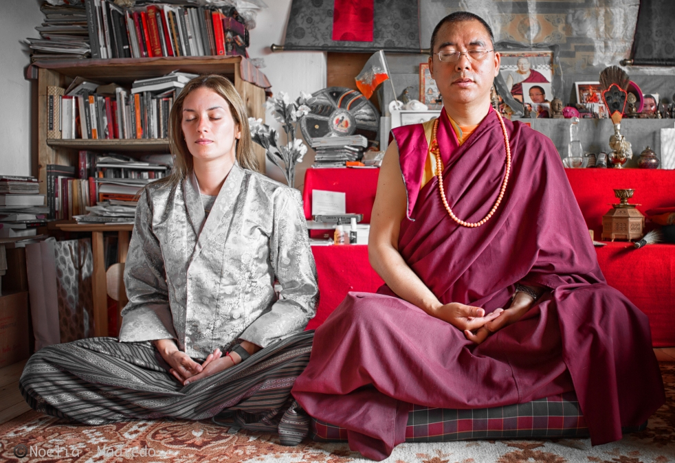 Learning mindful living meditation with Khenpo in Paro, Bhutan