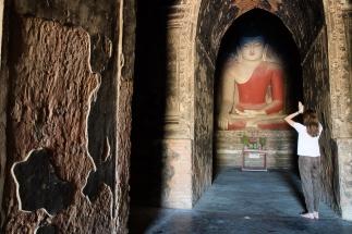 Prayers in Bagan