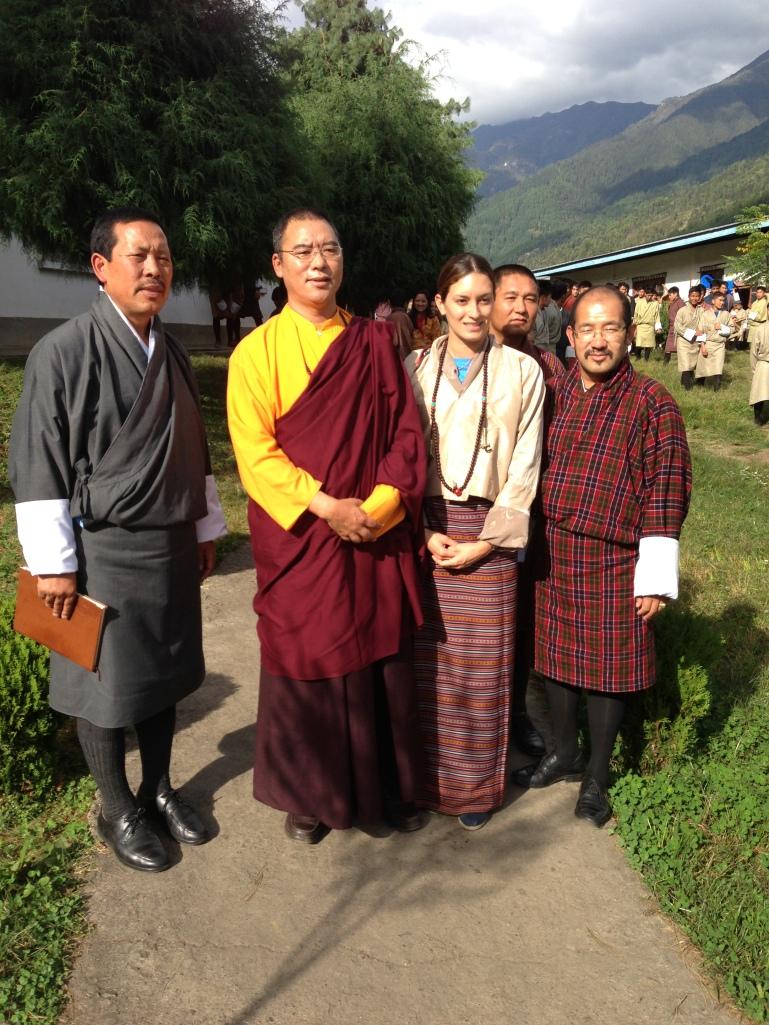 After Khenpo's talk mindful living meditation for the implementation of meditation in schools in Bhutan.