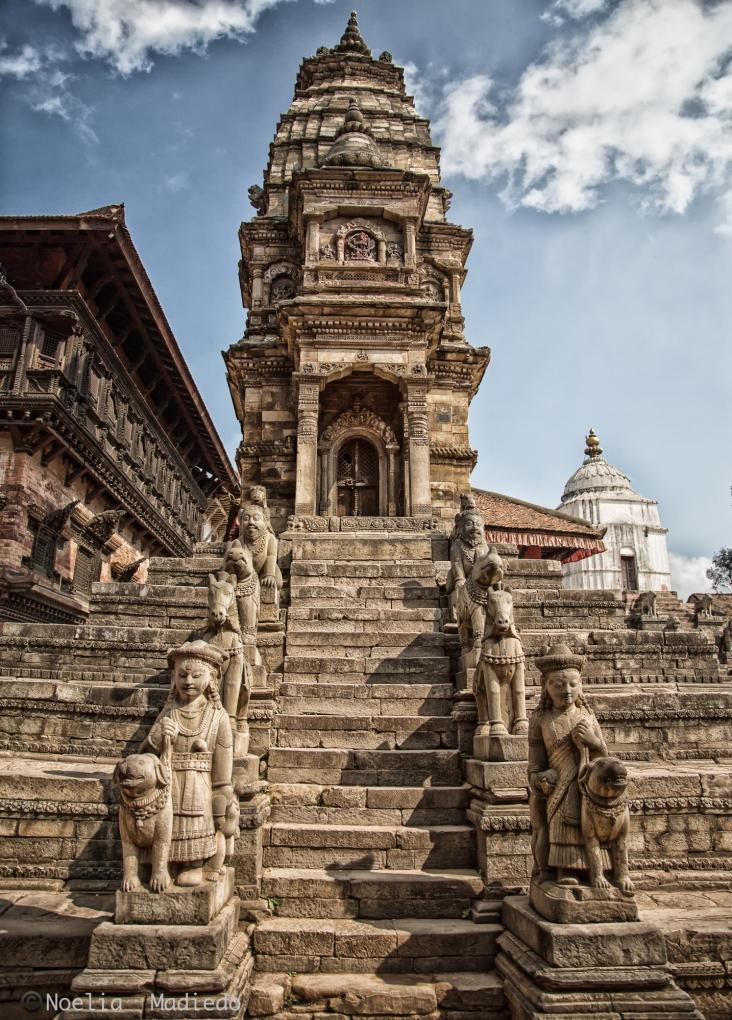 Stone Siddhi Lakshmi Temple And White Fasidega Temple