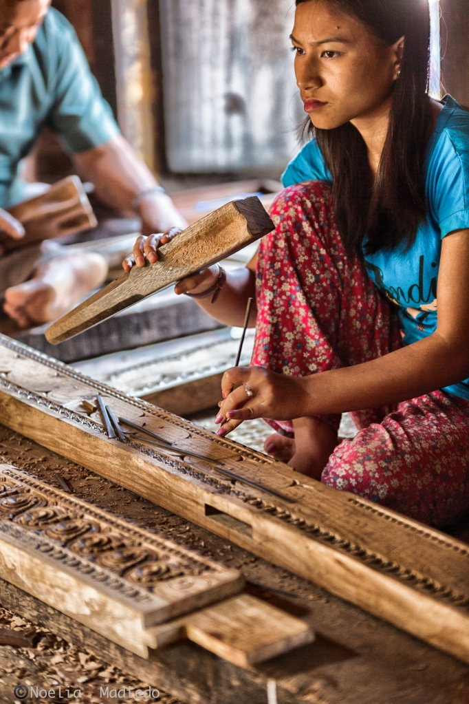 One of the finest wood carving factory you can find in Bhaktapur.