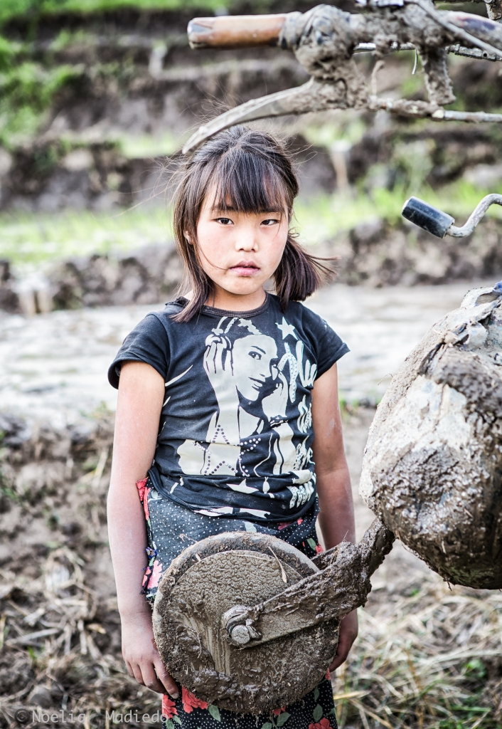 Portrait of a girl in the rice fields!