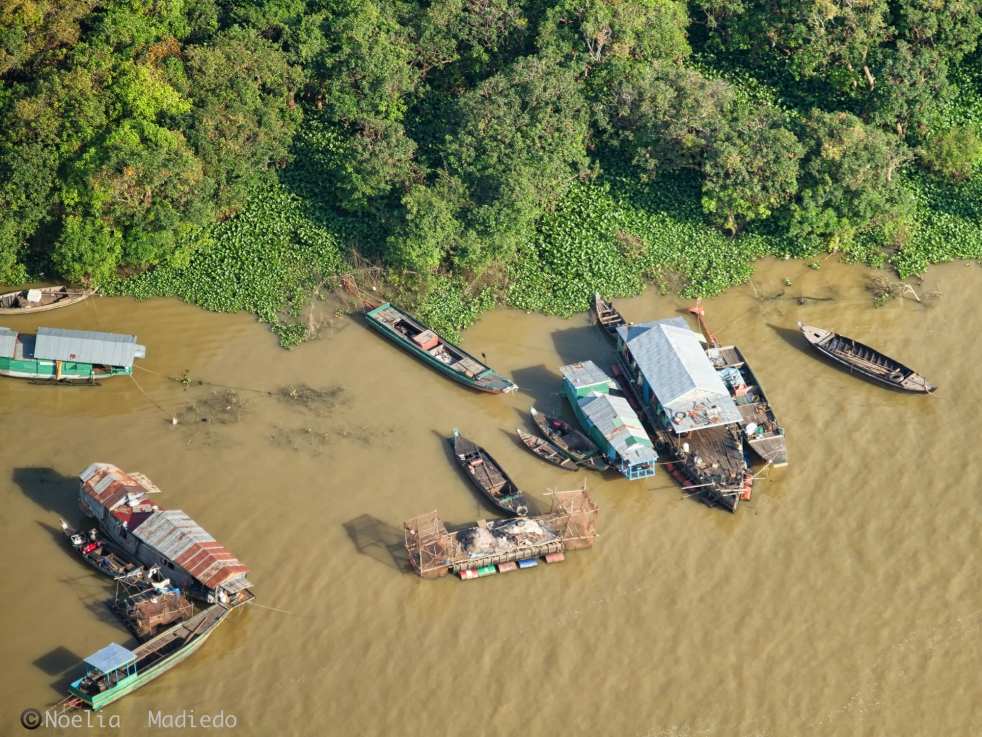 Areal view of the floating village