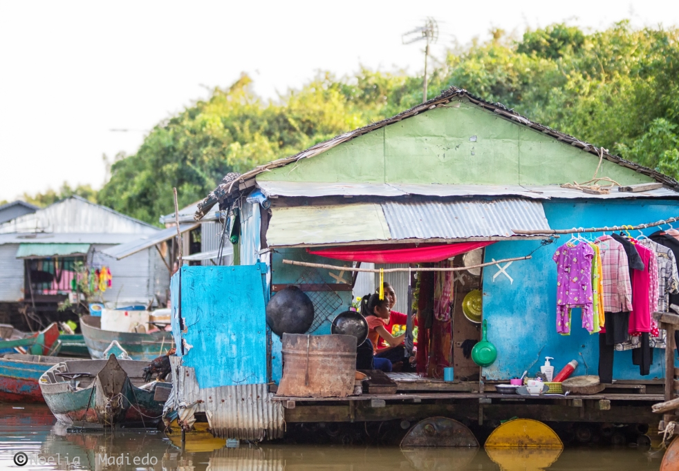 Life in the floating village
