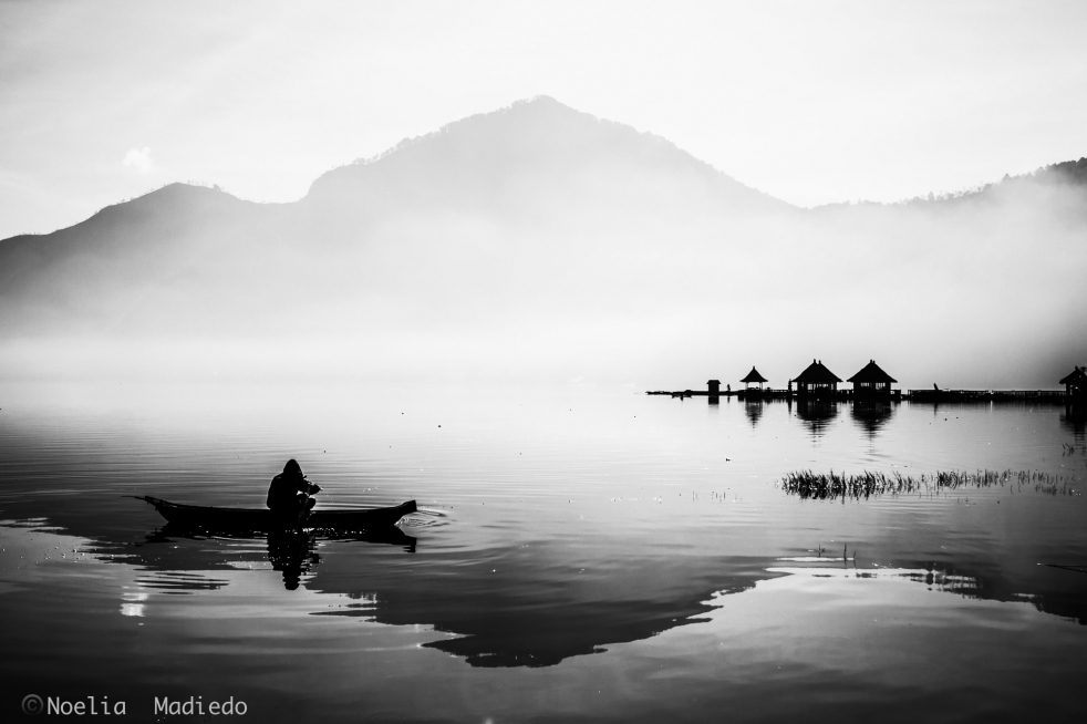Lake Batur Monocrome