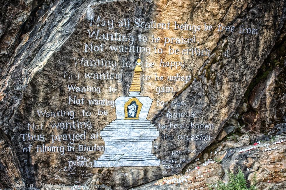 Writing in the walls in Bumthang, Bhutan