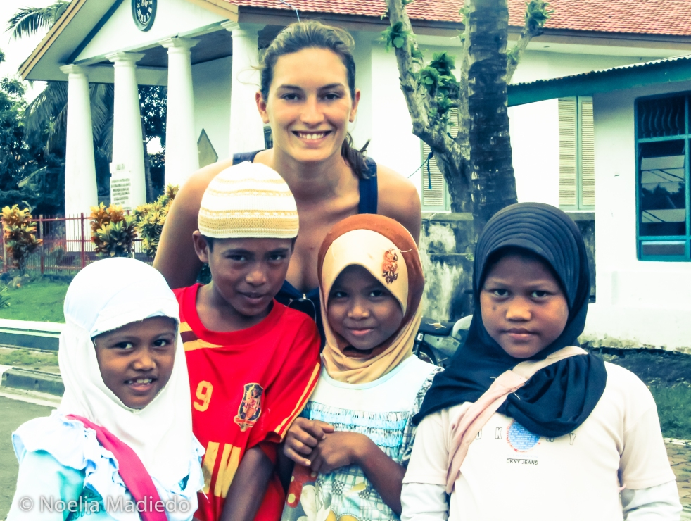 self with Banda island kids